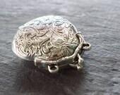 1 Silver Locket Pendant Purse Shaped 54mm Antiqued Silver