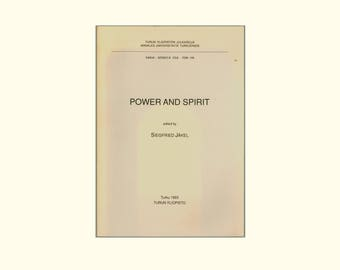 Power and Spirit, Essays on Ancient Greek & Roman Civilization Edited by Siegfried Jäkel, University of Turku, Finland, 1993, Vintage Book