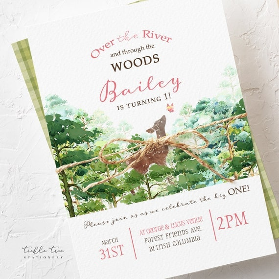 Birthday Party Invitations - Over the River and Through the Woods (Style 13673)