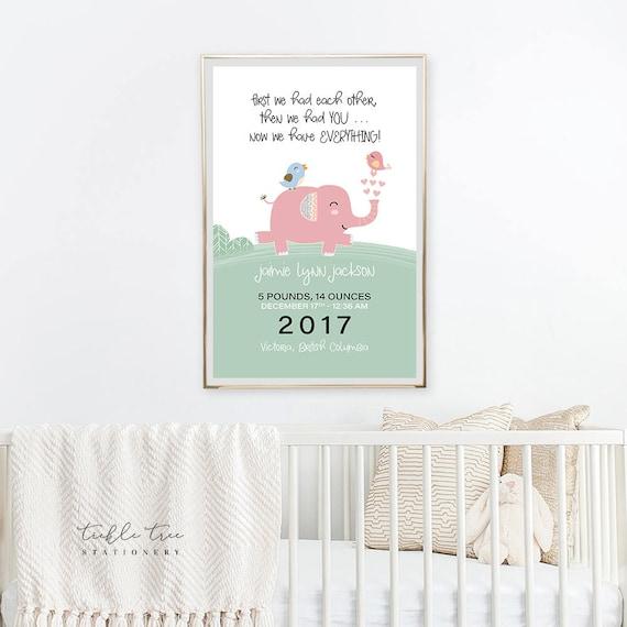 Art Print - Birth Poster, Elephant Parade (W00050)