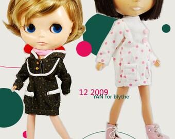 Clearance Sale - YAN - Polka Long-Sleeves Dress for Blythe doll