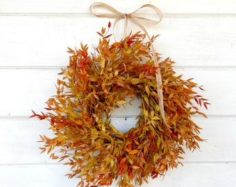 Fall MINI Wreath-Window Wreath-Fall Wreath-Farmhouse Decor-Fall Wall Hanging-Autumn Wreath-Artifical Wreath-Wall Decor-Small Wreath-Gifts