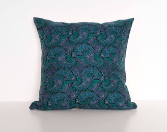 """Paisley floral print square cushion cover 47x47cm/ 18.5"""" x 18.5"""" in Pink"""