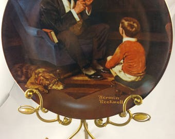 """Norman Rockwell's """"The Tycoon"""" Knowles Collector Plate"""