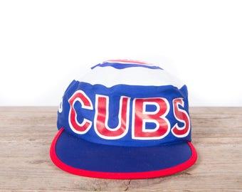 Vintage Cubs Hat / Cubs Gift / Chicago Cubs / Baseball Decor / Old Baseball Gear / Baseball Room / Cub Baseball Equipment
