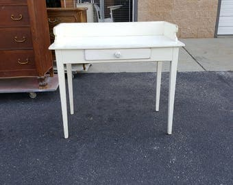 Vintage desk, vanity, baby changing table, farmhouse shabby chic, PICK UP ONLY, painting included, rustic, make up table, dressing table