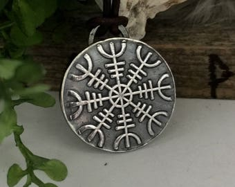 Helm of Awe Pendant - Viking Jewelry - Viking Rune Jewelry - Viking Mens Jewelry - Viking Women - Norse Necklace - Rune Jewelry