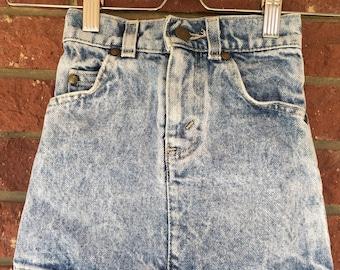 Levis skirt, Toddler Jean Skirt, Toddler size 4, Levi jean skirt, Acid wash retro skirt, Stonewash Levi skirt, Levis Brown Tab, girls skirt