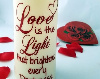 LED candle - Anniversary gift - timer candle - romantic gift - Wedding gift - wedding decor - gift for anyone - flameless candle