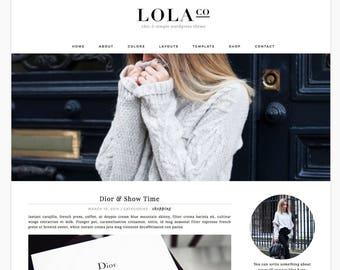 "Wordpress Theme Responsive Blog Design ""Lola"" - Photography, Slider"