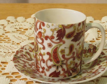 Vintage Can Cup and Saucer