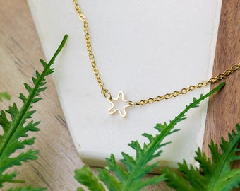Simple dainty star necklace | Gold plated layering necklace | Gifts for her under 20 | Celestial necklace | Constellation jewelry | Star |