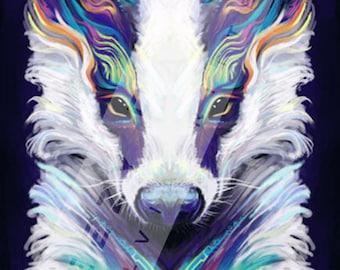 Breezy Badger - Large Signed Giclée Print