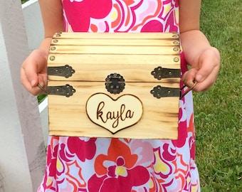 Kids keepsake box, Keepsake box, hope chest, graduation gift, bride, baby, child, Rustic box, treasure chest, jewelry box