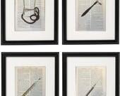4 Vintage Doctor Prints S...