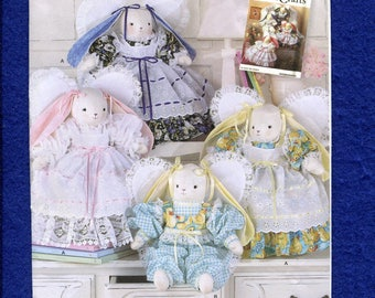 Simplicity 2595 Angel Bunnies All in Ruffles and Lace Size 18 inches tall UNCUT
