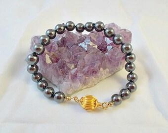Hematite Beaded Link Bracelet