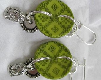 Buddha Buttons Earrings II