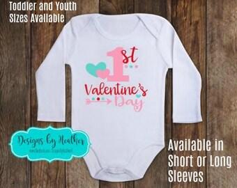 Valentine's Day Bodysuit - 1st Valentine's Day Shirt - Baby's First Valentine - Valentine's Bodysuit - Valentine Baby