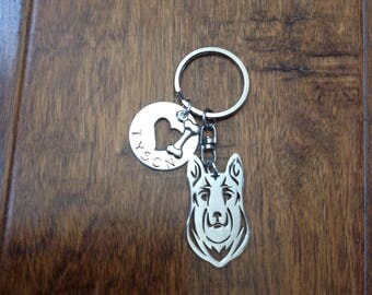 Welsh Corgi Head Custom Personalized Keychain Dog Breed Jewelry Pet memorial