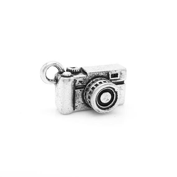 SLR Camera Charm - Add a Charm to Our Custom Charm Bracelets, Necklaces or Key Chains - Read Description for More Info - Nickel Free Charms