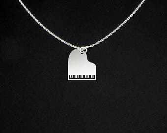 Piano Necklace - Music Teacher Gift - Piano Teacher Gift - Piano Teacher Necklace - Music Teacher Necklace - Grand Piano