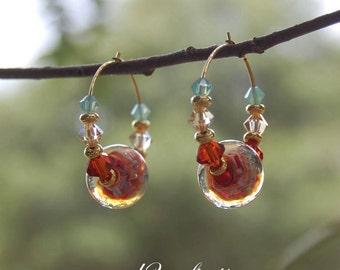 Hoop Earrings with Lori Robbins Lampwork