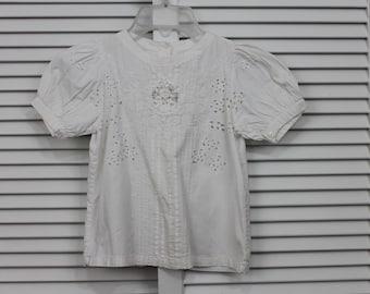 Vintage Girls Blouse White