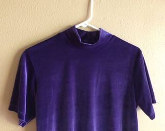Psychedelic Purple Velvet Top // vintage
