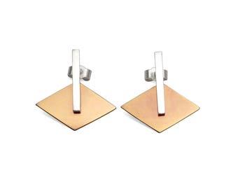 earrings 925 silver + titanium