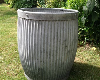 Dolly tub, wash tub, large plant pot, plant container, large zinc tub, outdoor planter