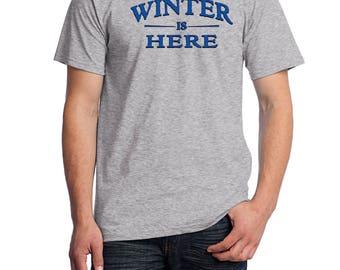 Game of Thrones Shirt, Winter Is Coming Shirt, Winter is Here Shirt, Fruit of the Loom Shirt, Direct to Garment, Men's Heather Grey Shirt