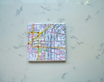 San Francisco - Castro & Mission - Bay Area Vintage Map Coaster