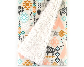 Baby Blanket Southwest Buffalo. The Cloud Blanket. Faux Fur Baby Blanket. Minky Baby Blanket. Buffalo Baby Blanket.