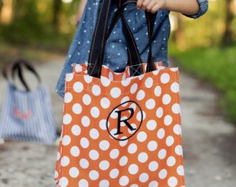 Personalized Halloween Treat Bag, Monogram Halloween Treat Holder, Halloween Bucket, Monogram Candy Bags, Trick or Treat Bag, Candy Pail