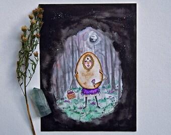 "Original Watercolor 6x8"" - Eloise"