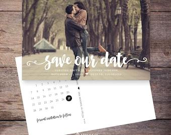 Save the Date Postcard, Save-the-Date Card, Calendar, Photo, DIY Printable, Digital File – Tabitha