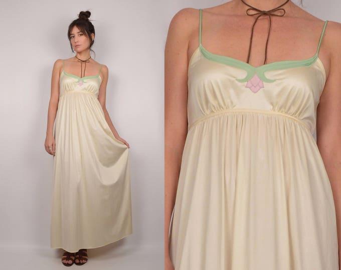 1970's Goddess Slip Dress / boudoir gown