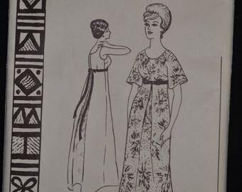 1950's Muu Muu Pattern - Misses' size 12 - Bust 32 - UNCUT - Polynesian Pattern 144