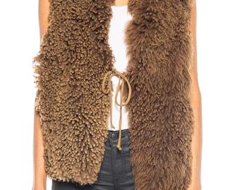 Fur Shearling Vest Size: FREE