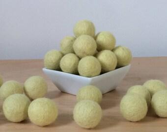 Felt Balls: CHARTREUSE, Felted Balls, DIY Garland Kit, Wool Felt Balls, Felt Pom Pom, Handmade Felt Balls, Green Felt Balls, Green Pom Poms
