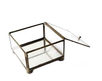Vintage Glass Display Box