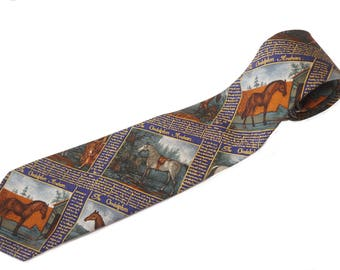 Arabian Horse Vintage Necktie / Godolphin / Thoroughbred / King of the Wind / Polo Tie / Ralph Lauren