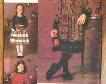 UNCUT Girl's, Toddler's Dress Sewing Pattern Vogue 9958 Size 2-3-4-5 Christmas Dress, Holiday, Church, Formal, Picture Day