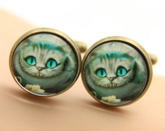 Cufflink  cheshire cat alice(1616)
