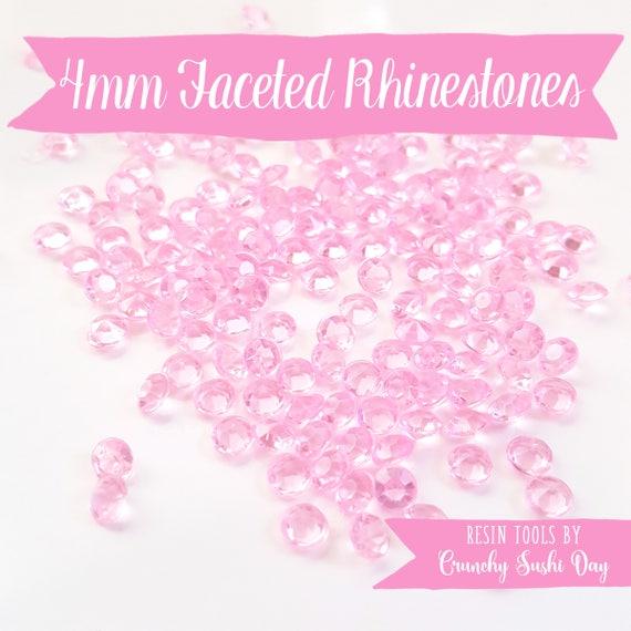 200 PCS- 4mm Pink Clear Acrylic Diamond Rhinestones, Rhinestone, Acrylic Rhinestones, Loose Rhinestones, Diamond Confetti, Confetti