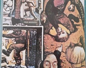 VAN HALEN Fair Warning 1981 Portugal Issue Rare Vinyl Lp Album 33 Record Music Heavy Rock Metal 80s David Lee Roth WAR56899