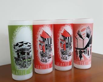 1962 Seattle World's Fair Souvenir Glass Set