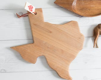 Vintage Texas Shaped Cutting Board