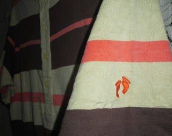 Vintage Hang Ten 1970s Surf Beach Stripe T-shirt Original